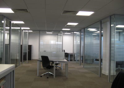 Glass Partitions Ireland - fitting in Dublin example 12