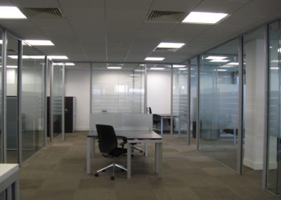 Glass Partitions Ireland - fitting in Dublin example 14