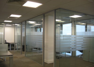 Glass Partitions Ireland - fitting in Dublin example 15
