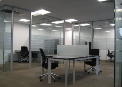 Glass Partitions Ireland - fitting in Dublin example 17