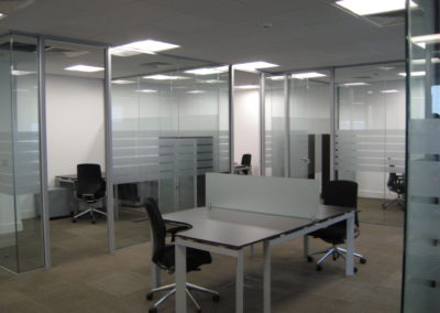 Glass Partitions Ireland - fitting in Dublin example 19
