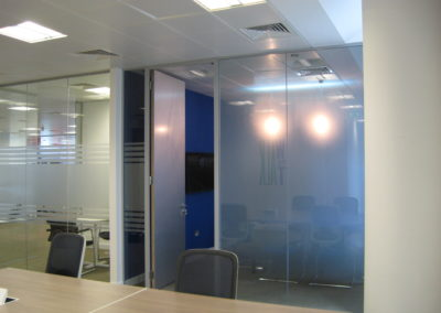 Glass Partitions Ireland - fitting in Dublin example 2