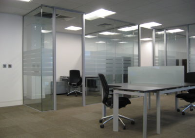 Glass Partitions Ireland - fitting in Dublin example 9
