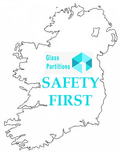 Glass Partitions Ireland - Policies map of Ireland with Glass Partitions Ireland logo inset